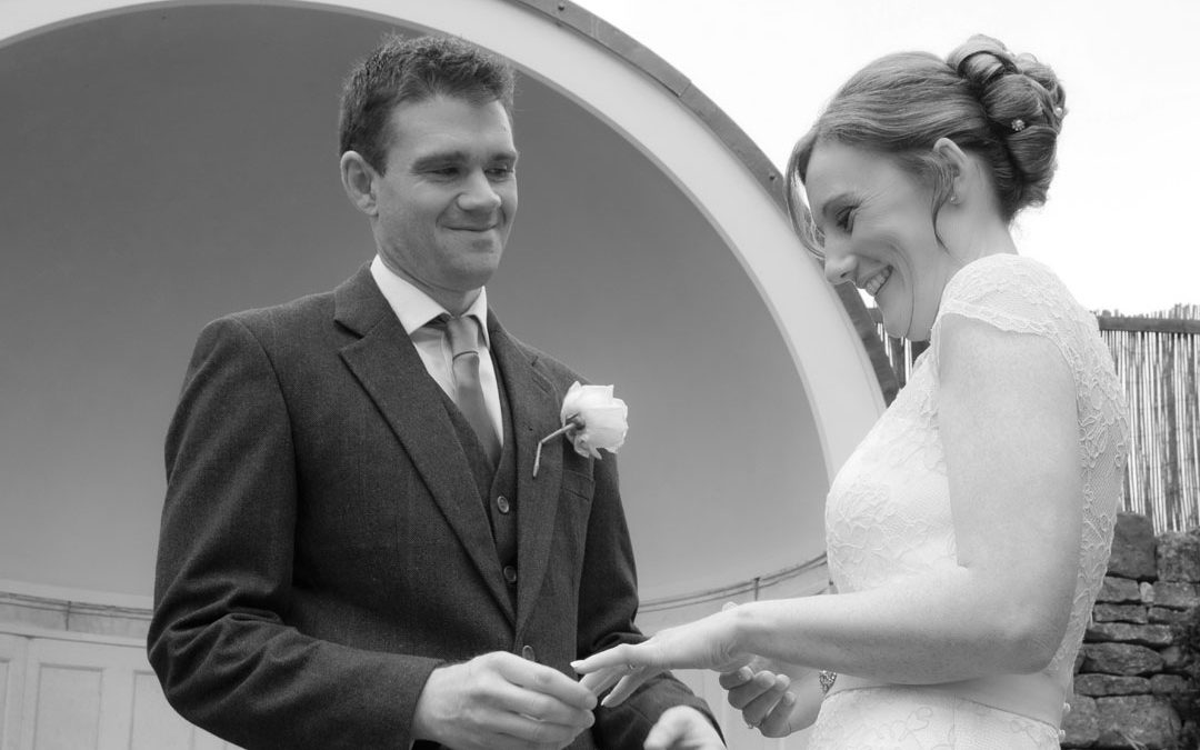exchanging the rings in black and white