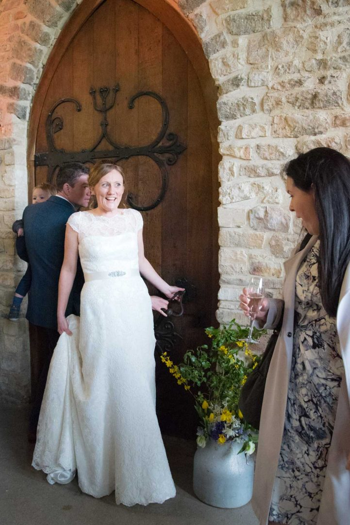 stunning bride, frist look at Priors Tithe Barn Gloucester