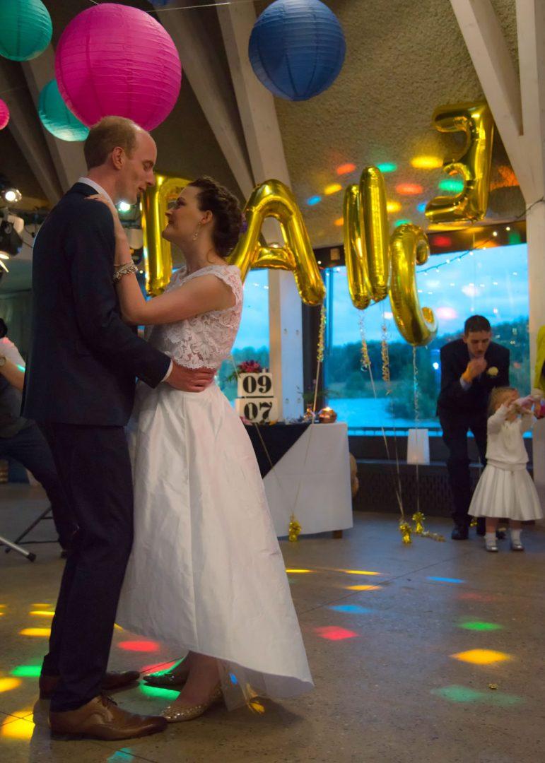First Dance at Brockholes Nature Reserve wedding venue