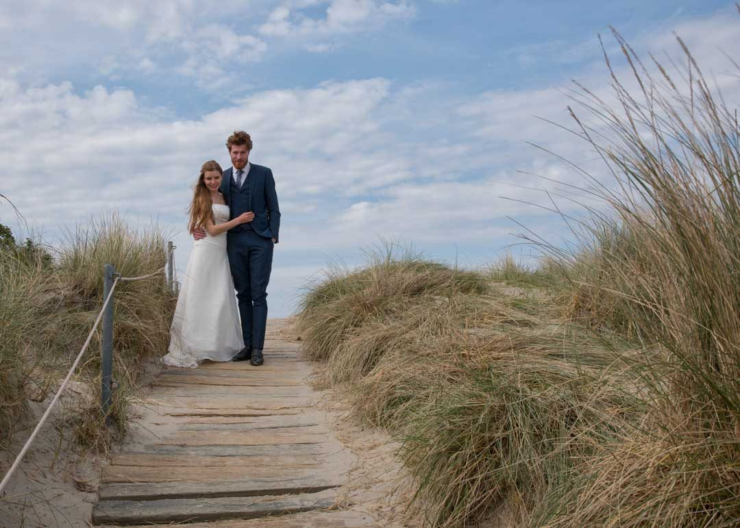 beautiful natural wedding photography, wedding photo shoot at the beach, West Wittering near Chichester